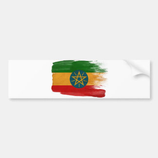 Bandera de Etiopía Etiqueta De Parachoque
