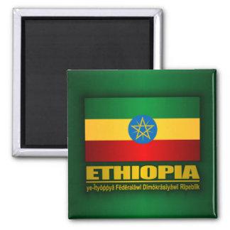 Bandera de Etiopía Imán Cuadrado