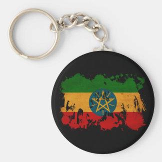 Bandera de Etiopía Llavero Redondo Tipo Pin
