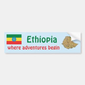 Bandera de Etiopía + Pegatina para el parachoques  Pegatina Para Auto