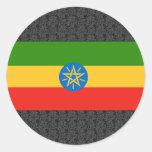 Bandera de Etiopía Pegatina Redonda