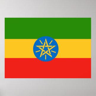 Bandera de Etiopía Póster
