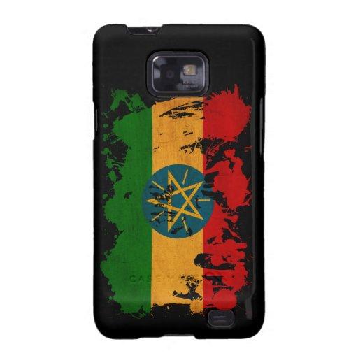 Bandera de Etiopía Samsung Galaxy S2 Fundas