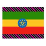 Bandera de Etiopía Tarjetas Postales