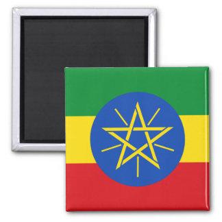 Bandera de Etiopía Y Imán Cuadrado
