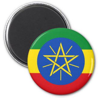Bandera de Etiopía Y Imán Redondo 5 Cm