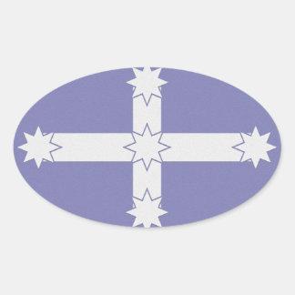 Bandera de Eureka Pegatina Ovalada