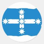 Bandera de Eureka Pegatina Redonda