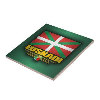 Bandera de Euskadi Azulejo Cuadrado Pequeño