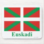 Bandera de Euskadi (País Vasco) con nombre Alfombrillas De Ratón