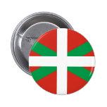 Bandera de Euskadi - país vasco - Ikurri Pin Redondo De 2 Pulgadas