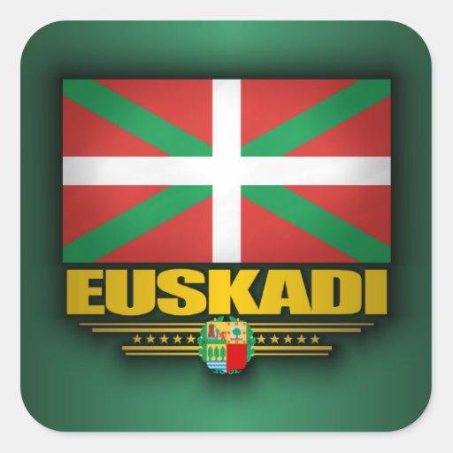 Bandera de Euskadi Pegatina Cuadrada