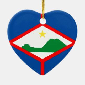 Bandera de Eustatius del santo Ornamento Para Arbol De Navidad