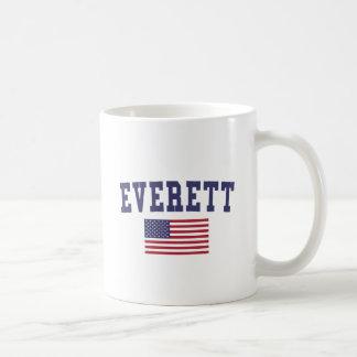 Bandera de Everett mA los E.E.U.U. Taza