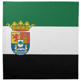 Bandera de Extremadura (España) Servilletas