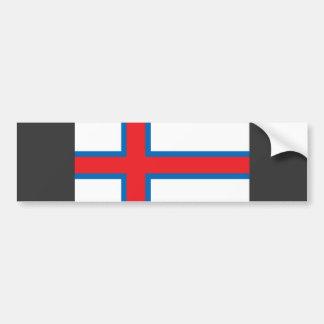 Bandera de Faroe Island Etiqueta De Parachoque