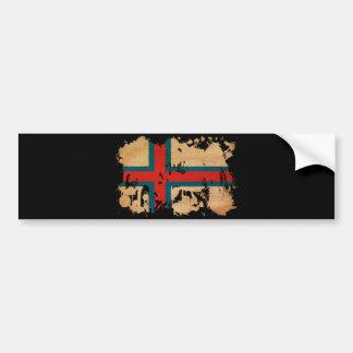 Bandera de Faroe Island Pegatina De Parachoque