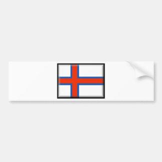 Bandera de Faroe Island (Dinamarca) Pegatina De Parachoque
