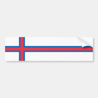 Bandera de Faroe Island. Dinamarca/danés/danés Pegatina Para Auto
