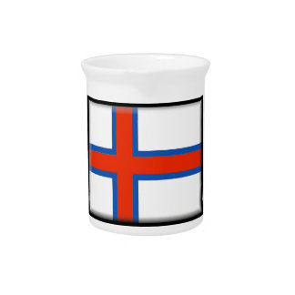 Bandera de Faroe Island (Dinamarca) Jarron