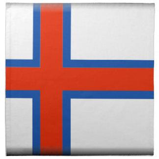 Bandera de Faroe Island (Dinamarca) Servilletas