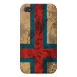 Bandera de Faroe Island iPhone 4/4S Carcasa