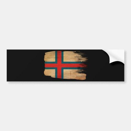 Bandera de Faroe Island Pegatina Para Auto