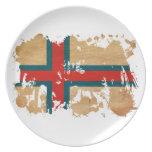 Bandera de Faroe Island Plato