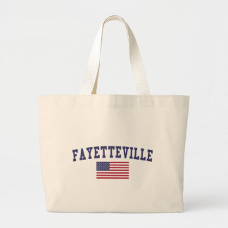 Bandera de Fayetteville NC los E.E.U.U. Bolsa Tela Grande