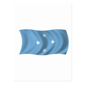 Bandera de Federated States of Micronesia Tarjetas Postales