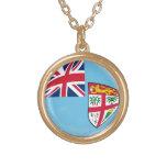 Bandera de Fiji del collar del final del oro