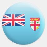 Bandera de Fiji Etiqueta Redonda