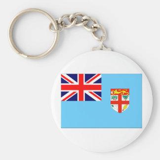 Bandera de Fiji Llavero Redondo Tipo Pin