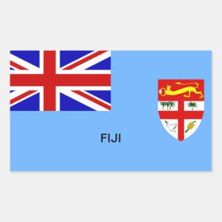 Bandera de Fiji Pegatina Rectangular