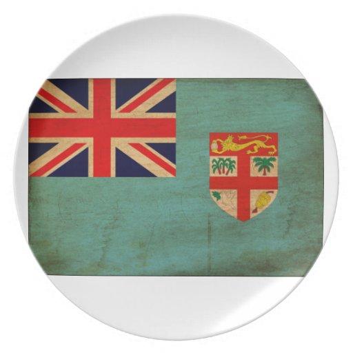 Bandera de Fiji Platos De Comidas