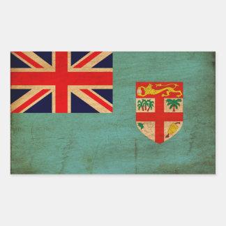 Bandera de Fiji Rectangular Pegatinas