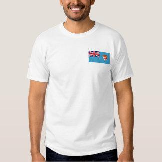 Bandera de Fiji y camiseta del mapa Playera