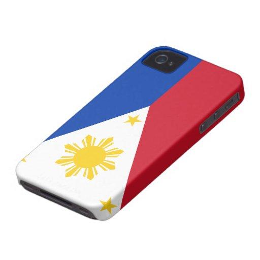 Bandera de Filipinas Case-Mate iPhone 4 Carcasa