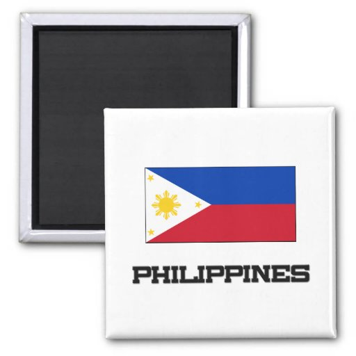 Bandera de Filipinas Imán Cuadrado