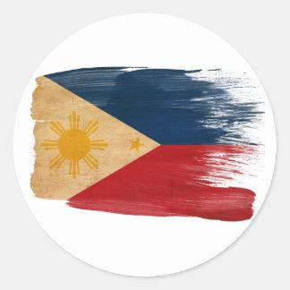 Bandera de Filipinas Etiquetas Redondas