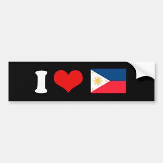 Bandera de Filipinas Pegatina Para Auto