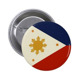 Bandera de Filipinas Pin Redondo 5 Cm
