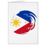Bandera de Filipinas Tarjeta De Felicitación