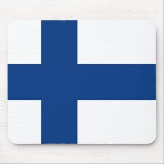 Bandera de Finlandia Alfombrillas De Ratón