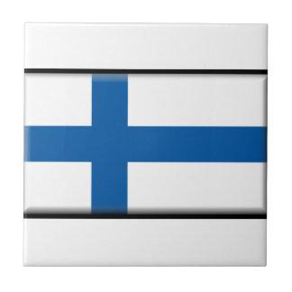 Bandera de Finlandia Azulejo