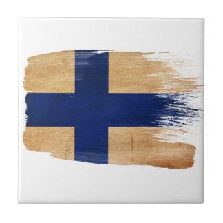 Bandera de Finlandia Teja Ceramica