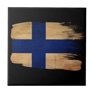 Bandera de Finlandia Azulejos Ceramicos