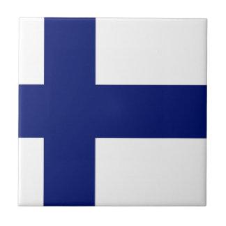 Bandera de Finlandia Tejas