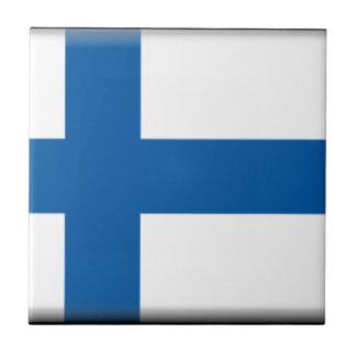 Bandera de Finlandia Teja