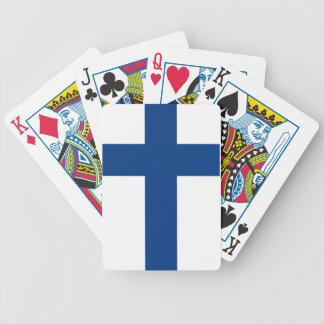 Bandera de Finlandia Barajas De Cartas